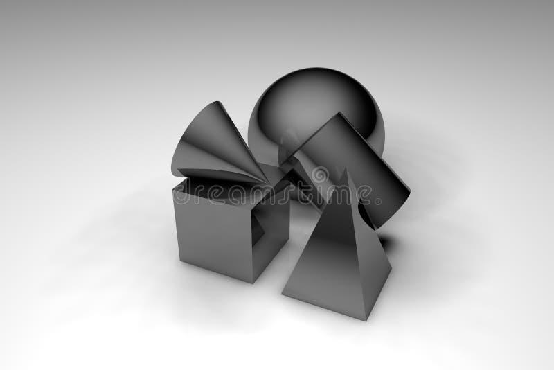 3d modella la scena illustrazione di stock