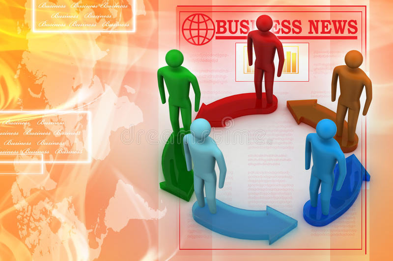 Download 3d Modelling People Connected Stock Illustration - Image: 36108202