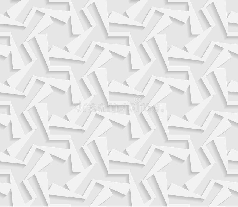 3D modello bianco senza cuciture, ornamento indiano, motivo persiano, vettore Struttura senza fine illustrazione vettoriale