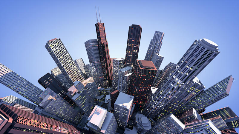 3D modern city stock images