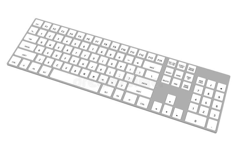 3D modern computer keyboard stock image