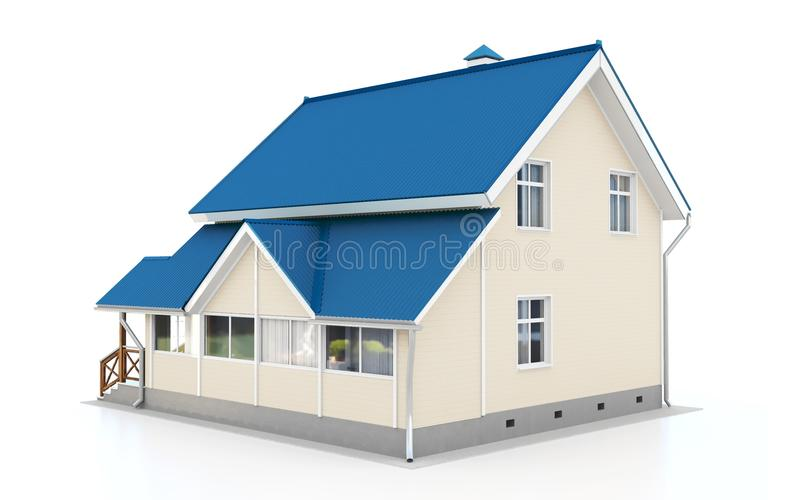 3d modern house royalty free illustration