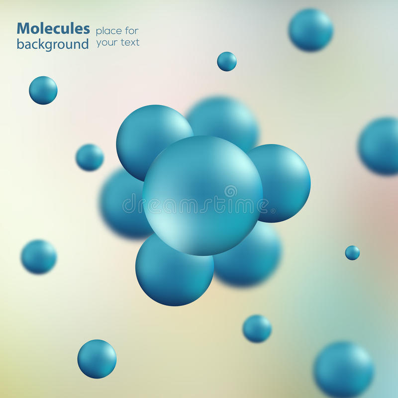 3d molecule model creative design royalty free illustration