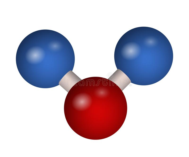 3D molekuła dwutlenek węgla ilustracja wektor
