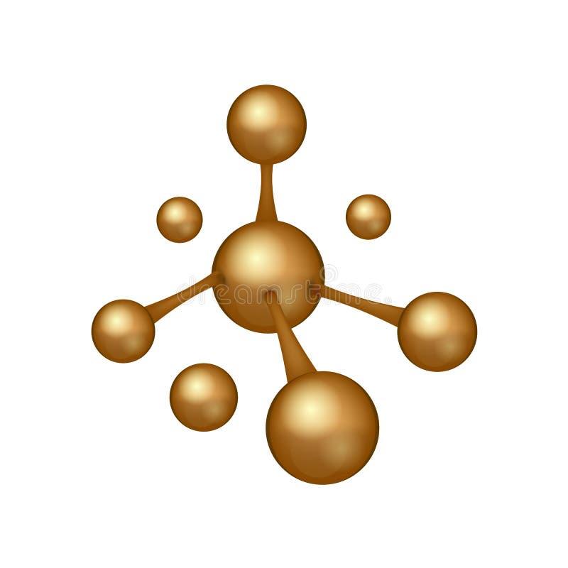 3D molekuły realistyczna ikona Dna znak biotechnologia logo również zwrócić corel ilustracji wektora ilustracja wektor