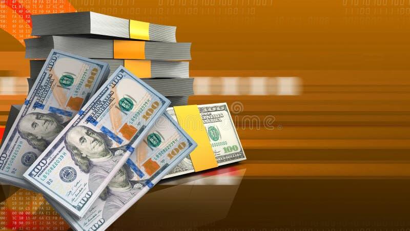 3d money banknotes stock illustration