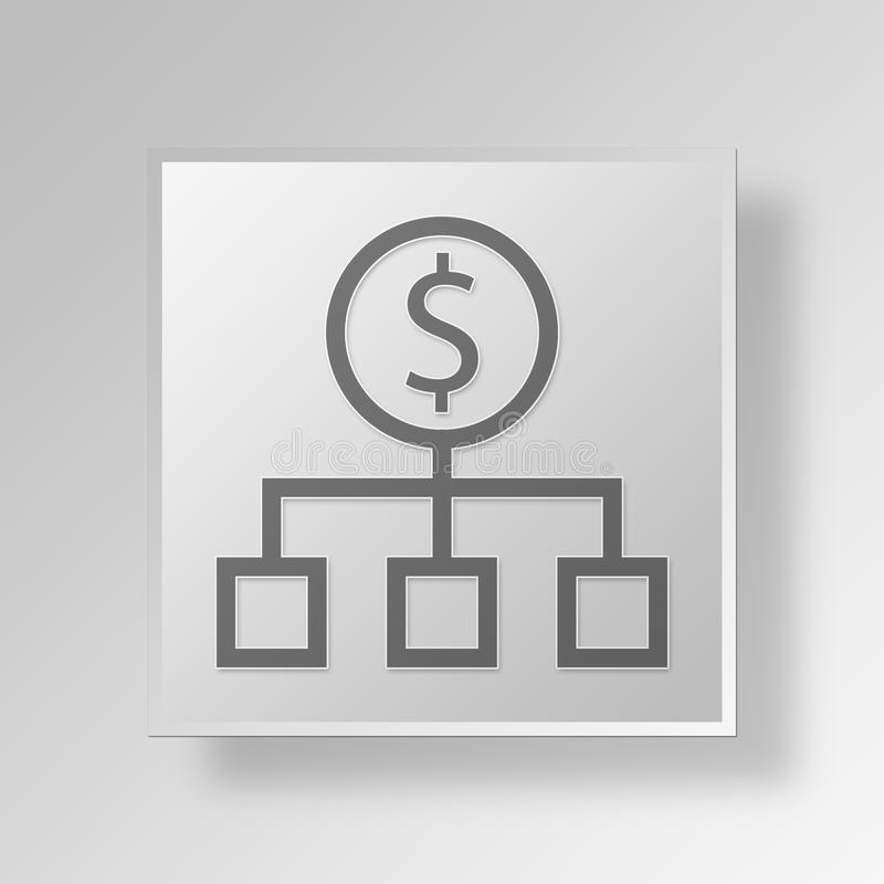 3D Money Source icon Business Concept royalty free illustration