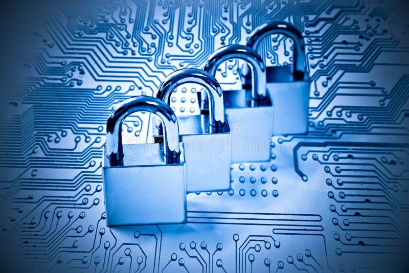 3d monitor komputerowa ilustracyjna ochrona zdjęcia stock