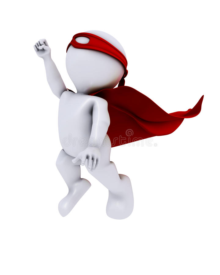 3D Morph Man super hero. 3D Render of Morph Man super hero stock illustration