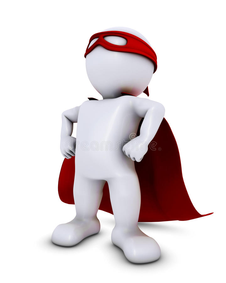 3D Morph Man super hero. 3D Render of Morph Man super hero vector illustration