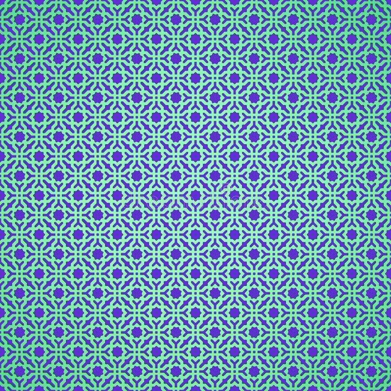3d mosaico geometrico, motivo persiano Elemento della decorazione della moschea I illustrazione vettoriale