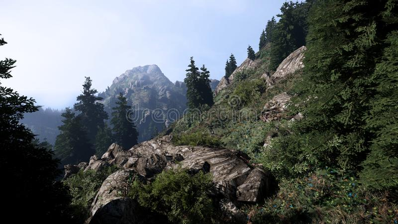 3d mountain scene for background royalty free stock images