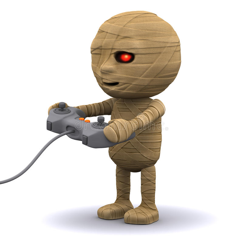 Download 3d Mummy plays a videogame stock illustration. Illustration of curse - 40104272
