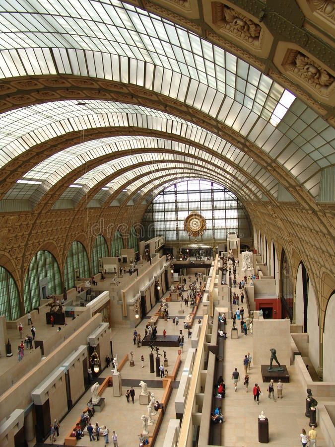 D-musee orsay paris arkivbilder