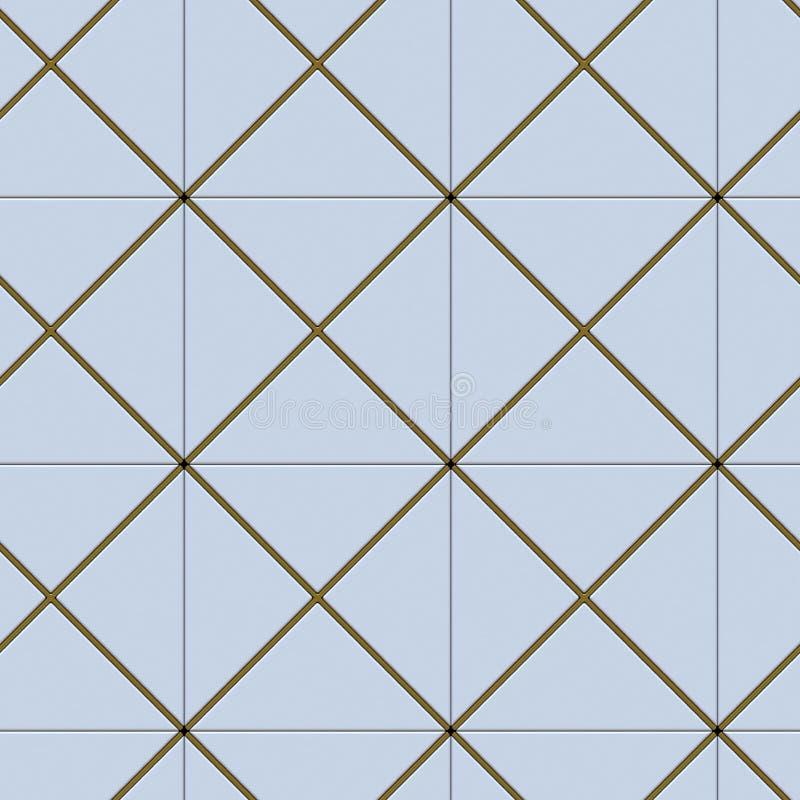 3D muur witte panelen met gouden decor Hoog - naadloze kwaliteit royalty-vrije illustratie