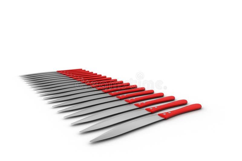3d nóż ilustracji