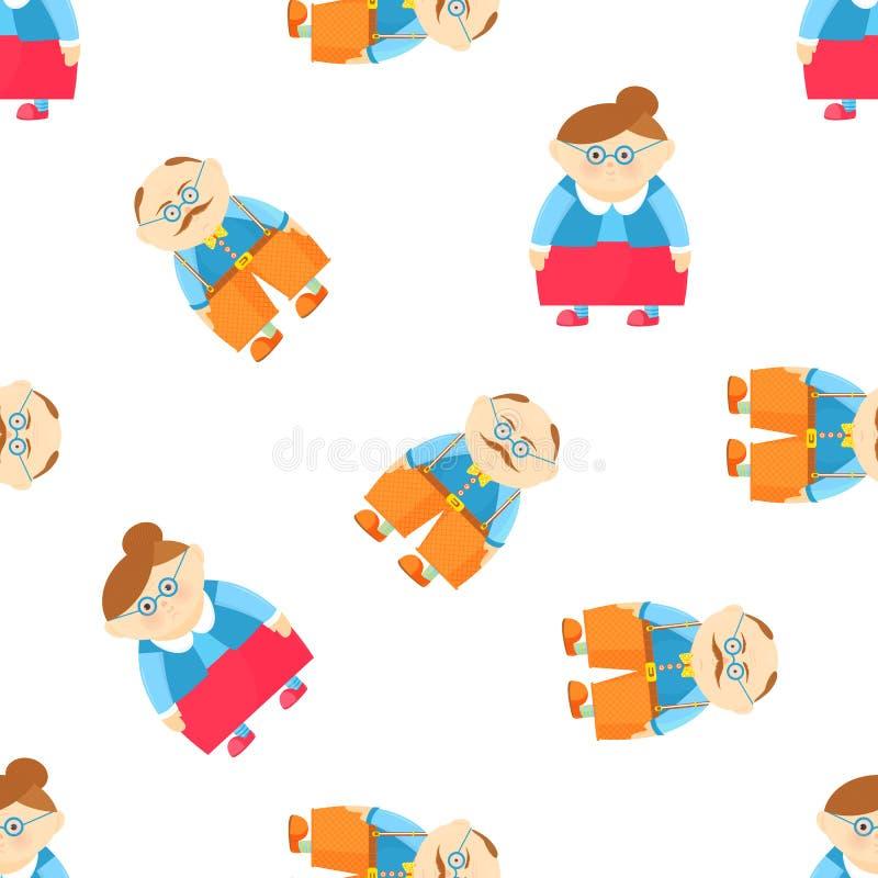 D?a nacional de los abuelos Abuelo y abuela divertidos ilustración del vector