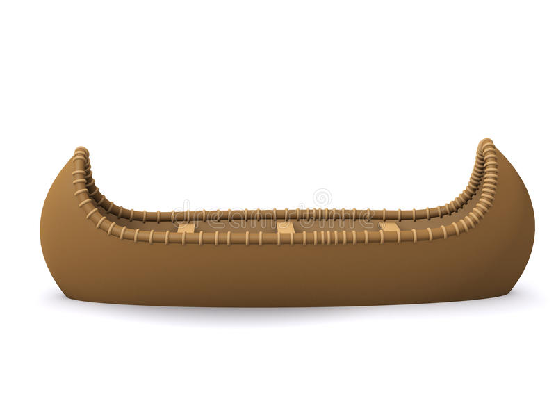 Download 3d Native American Indian Canoe Stock Illustration