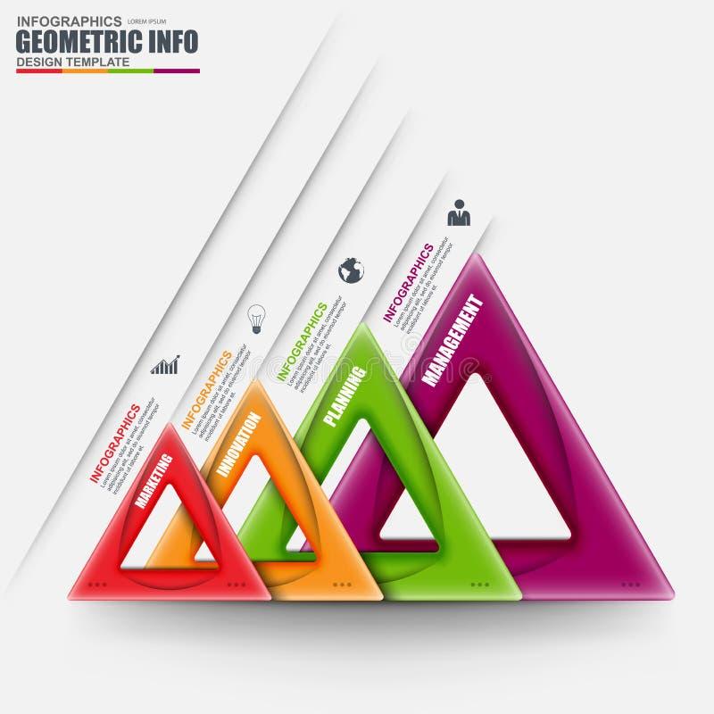 3D negocio abstracto Infographic geométrico puede ser utilizado para la disposición del flujo de trabajo ilustración del vector