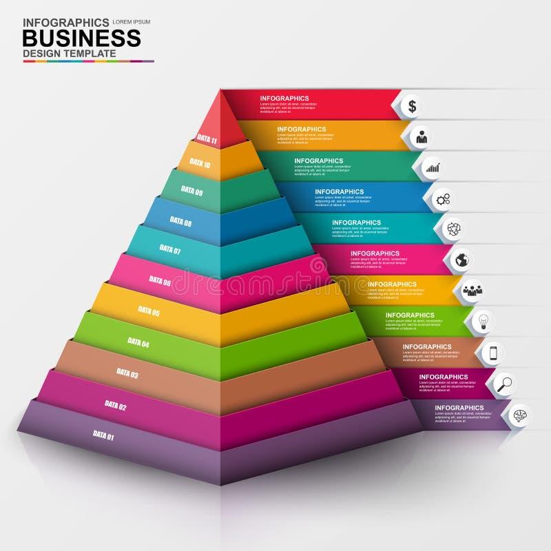 3D negocio digital abstracto Infographic ilustración del vector