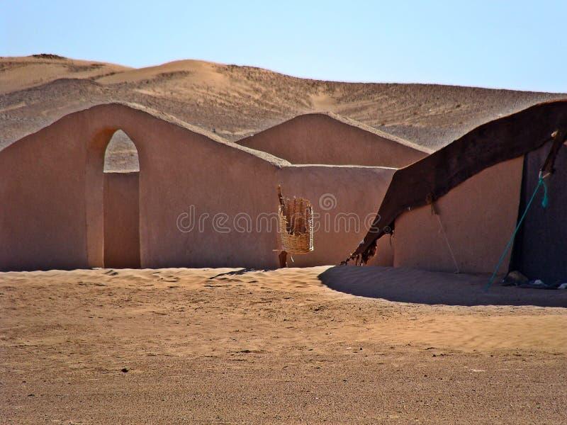 D?nen in der Marokkanersahara-W?ste stockfotografie