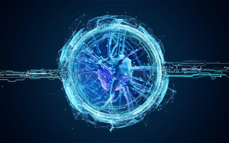 3d neuronu komórki ilustracja wektor