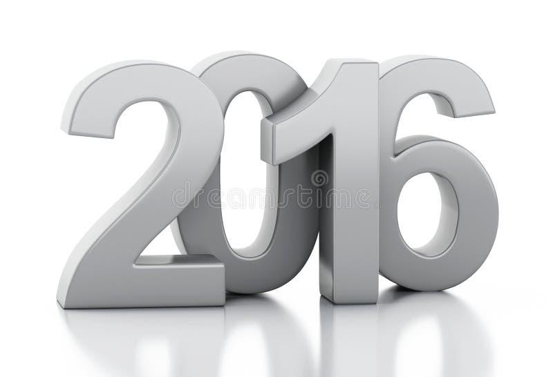 3d New Year 2016 stock illustration