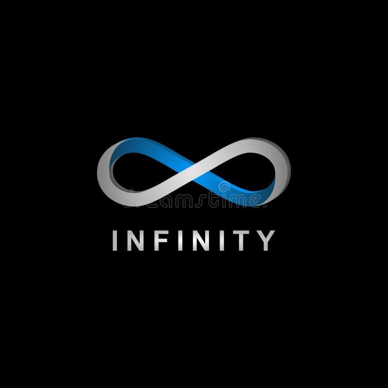 3D nieskończoności symbolu realistyczny logo royalty ilustracja