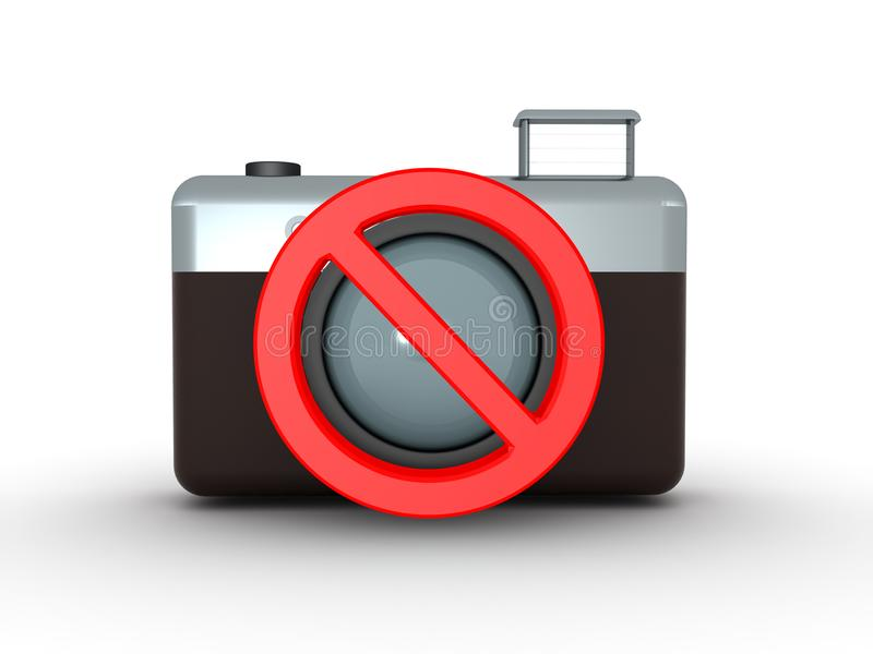 3D ninguna muestra de la imagen stock de ilustración