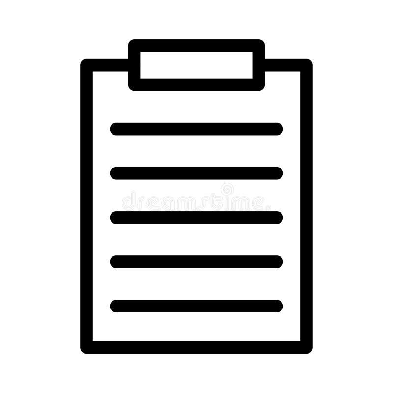 D?nne Linie Ikone des Dokuments vektor abbildung