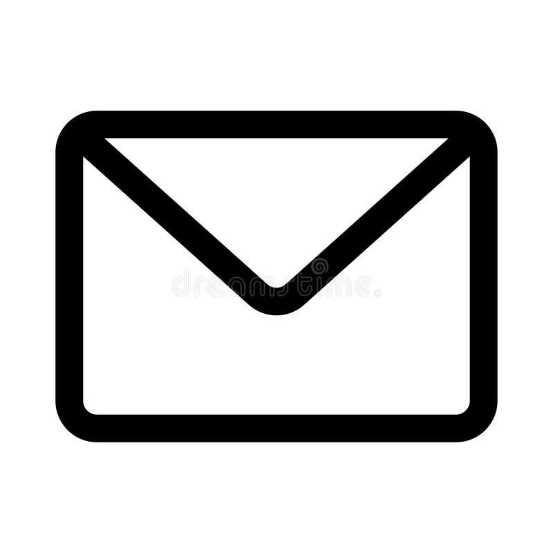 D?nne Linie Vektorikone der Mitteilung stock abbildung