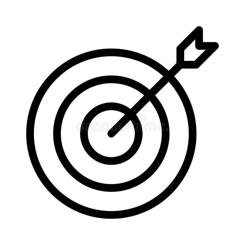 D?nne Linie Vektorikone des Fokus vektor abbildung