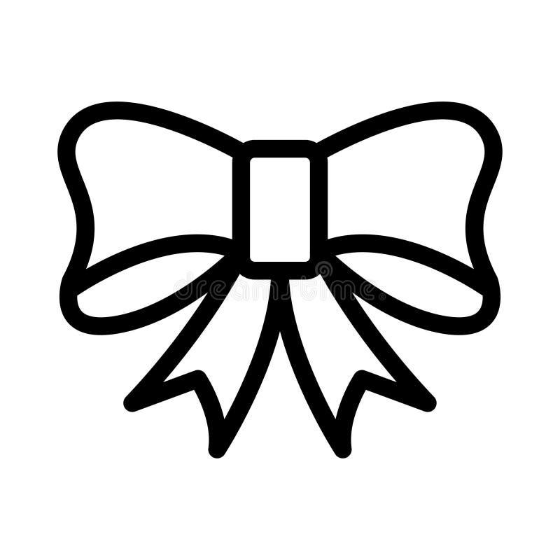 D?nne Linie Vektorikone des Geschenks stock abbildung