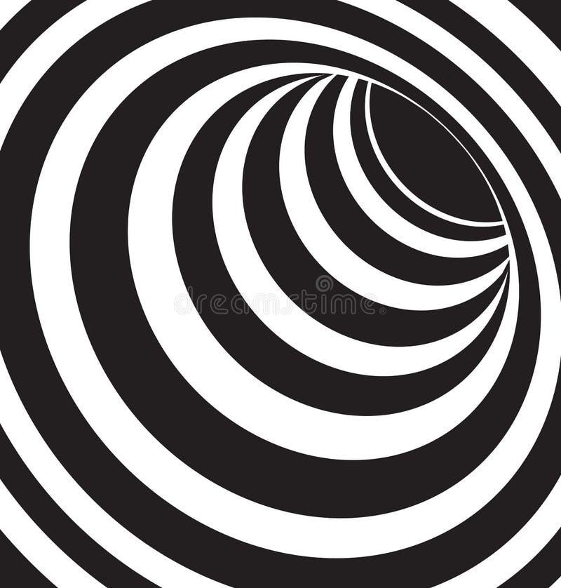 3d noir et blanc forme le vecteur illustration stock