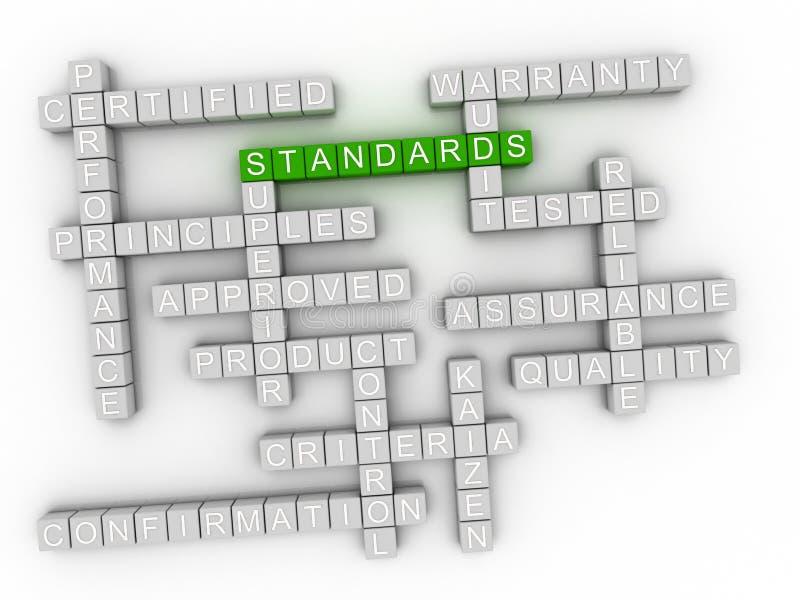 3d normal, ordmolnbegrepp på vit bakgrund stock illustrationer