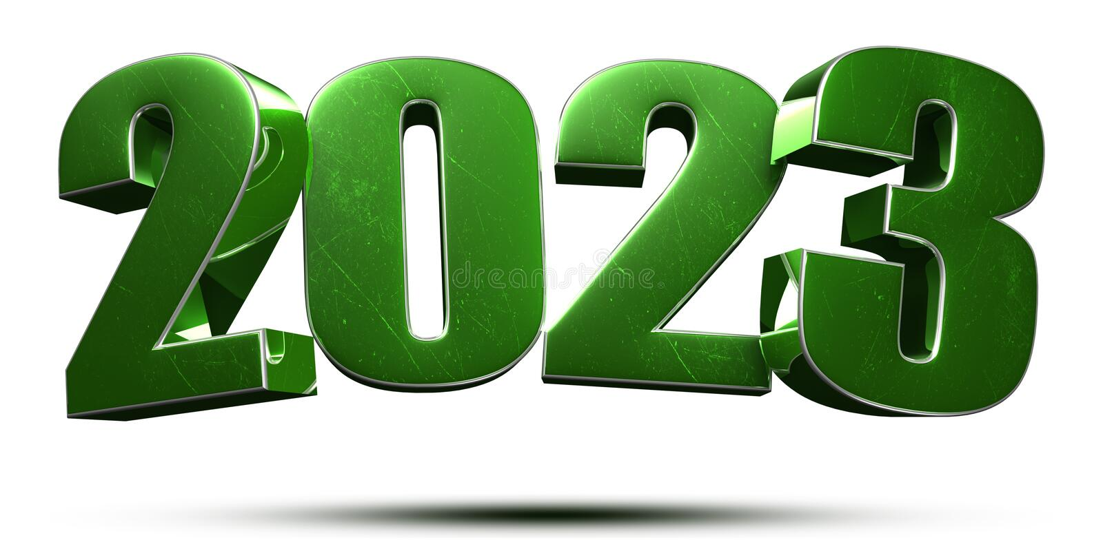 2023 3d.with Clipping Path. vector illustration