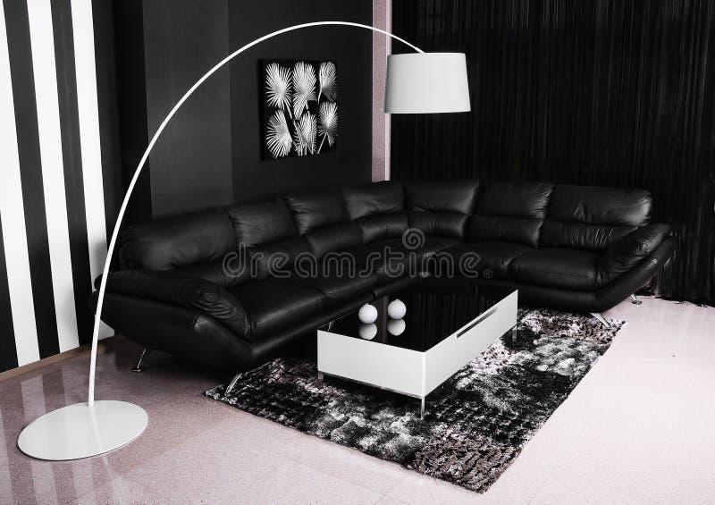 3 d obraz wewnętrzny salon zdjęcia stock