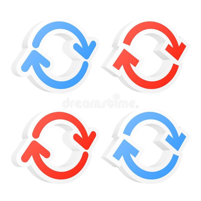 3d odświeżają okrąg strzała ilustracji