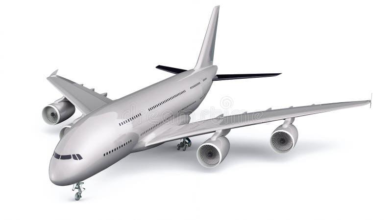 3D Odosobniony Handlowy samolot ilustracji