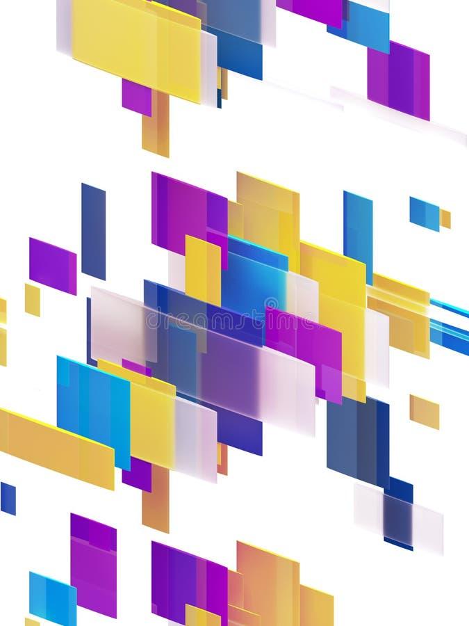 3d odpłacają się, abstrakcjonistyczny geometryczny tło, rozłamów bloki, przekątna lampasy, dynamiczne linie, multicolor panel, cz ilustracji