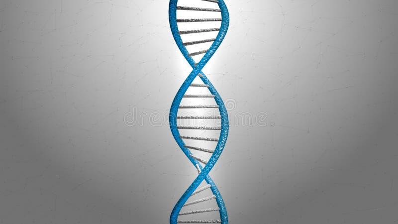 3d odpłaca się błękitnego DNA struktury abstrakta tło zdjęcie royalty free