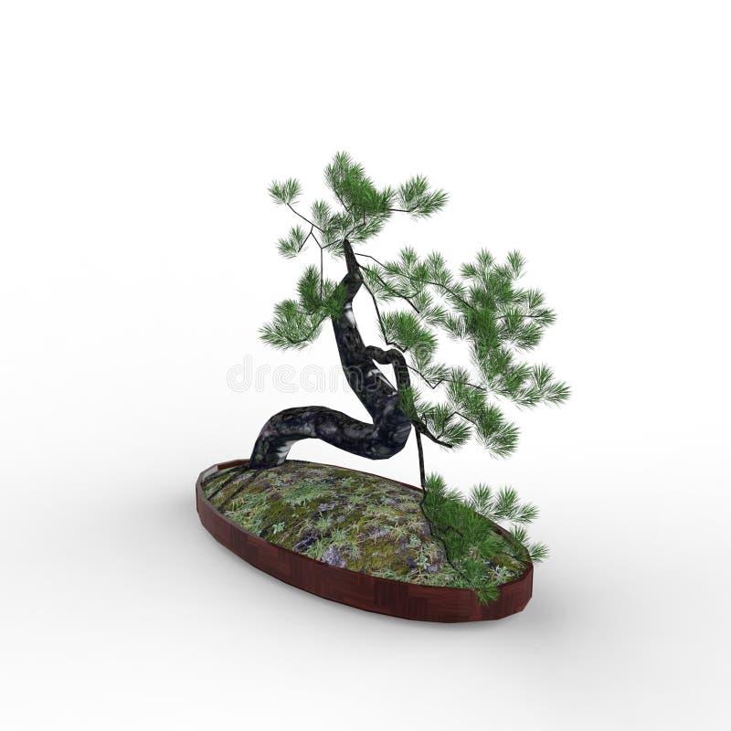 3d odpłaca się bonsai tworzył używać blender narzędzie royalty ilustracja