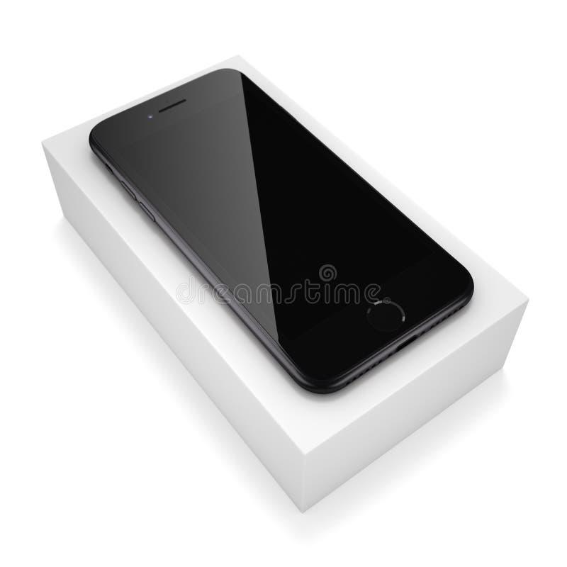 3D odpłaca się czarnego matt mądrze telefon z czerń ekranem royalty ilustracja