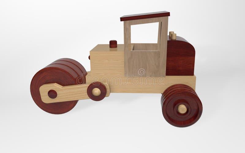 3D odpłaca się drewnianego zabawkarskiego lodowisko robić od różnych typów drewno ilustracji