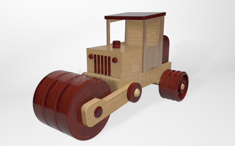 3D odpłaca się drewnianego zabawkarskiego lodowisko robić od różnych typów drewno royalty ilustracja