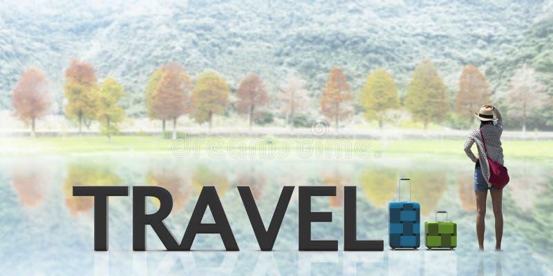 3d odpłaca się podróżną torbę z ładnego tła lekkim kolorem ilustracji