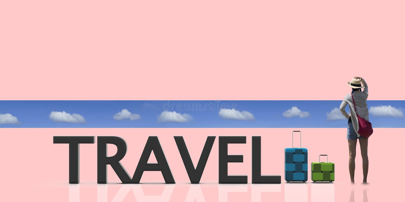 3d odpłaca się podróżną torbę z ładnego tła lekkim kolorem royalty ilustracja