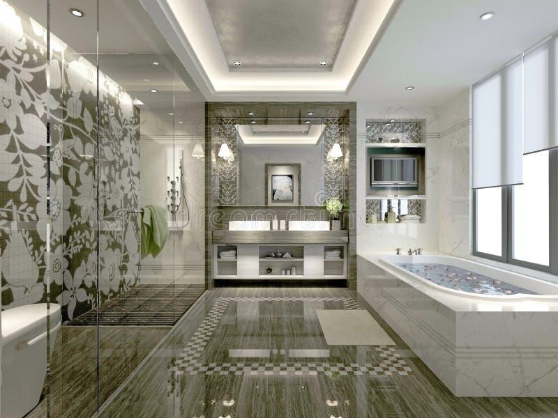 3d odpłacają się łazienka royalty ilustracja
