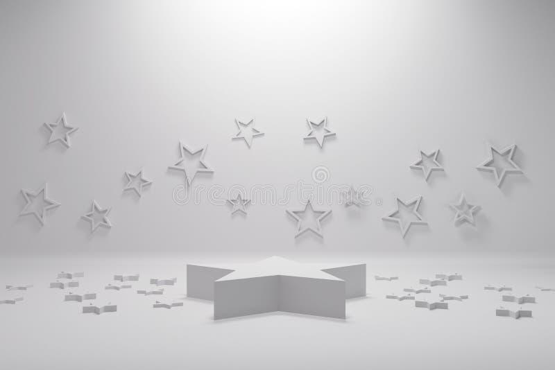 3d odpłacają się, abstrakcjonistyczny geometryczny tło, minimalistic praforma kształty, nowożytny egzamin próbny w górę, pusta ga ilustracji