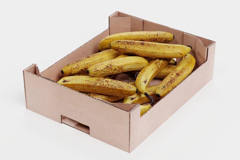 3D Odp?acaj? si? banany w pude?ku ilustracja wektor